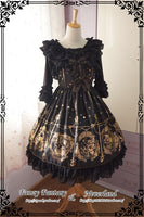 The Song of Mermaid Series Gold Stamped Lolita JSK Dress by Soufflesong
