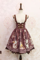 Steampunk Gear ~ Sweet Gear Printed Lolita Casual Suspender High Waist Skirt by Alice Girl~ Pre-order