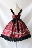 Chandelier Printed Gothic Lolita JSK Dress with Split Front Halloween Party Dress Pre-order by Alice Girl