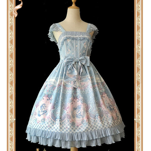 Little Mermaid ~ Sweet Printed Lolita JSK Dress by Infanta