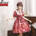 The Little Devil ~ Short Sleeve Lolita OP Dress by Magic Tea Party ~ Pre-order