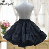 2019 New Lolita Organza Ball Gown Skirt Sweet Short Pettiskirt White/Black Crinoline Petticoat