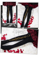 Gothic Lolita Patterned Tights 120D Women's Pantyhose