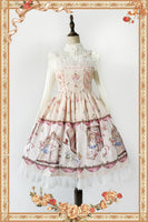 The Book Of Alice's Mysterious Land ~ Sweet Printed Lolita JSK Dress by Infanta