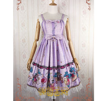 Garden in Fairy-tale ~ Sweet Printed Empire Waist Lolita JSK Dress by Strawberry Witch