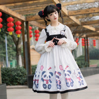 Lovely Panda ~ Cute Casual Lolita JSK Dress Short Sleeveless Party Dress