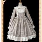 Doris' Trip ~ Sweet Long Sleeve Plaid Lolita Dress by Infanta