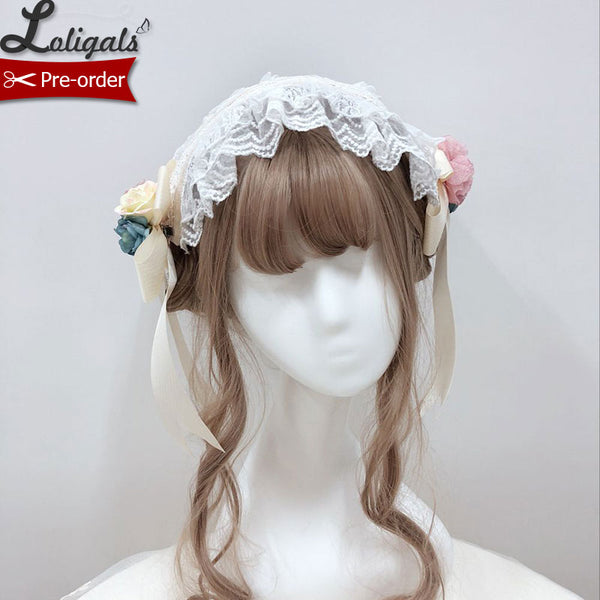 Miss Lolo ~ Sweet Lolita Headband with Flower Decor by Alice Girl ~ Pre-order