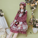 Pea Kyi's Day ~ Royal Long Lantern Sleeve Printed Lolita Dress by Yomi