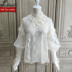 Blooming Camellias ~ Sweet Bishop Sleeve Lolita Blouse by Alice Girl ~ Pre-order