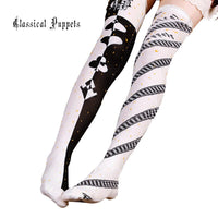 Alice Over the Knee Cotton Stockings Gothic Lolita Long Socks by Classical Puppets