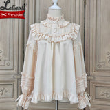 Lovely Teddy ~ Vintage Long Sleeve Lolita Blouse Ruffled Shirt by Alice Girl ~ Pre-order