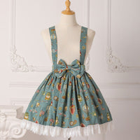 Mechanical Balloon ~ Sweet Printed Lolita Salopette Skirt by Strawberry Witch