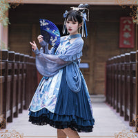 Vivian ~ Retro Style Long Sleeve Lolita Dress by YLF