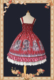 Miss Red ~ Sweet Printed Lolita JSK Dress by Infanta
