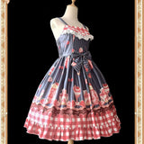 Strawberry & Ice Cream ~ Sweet Printed Lolita JSK Dress by Infanta