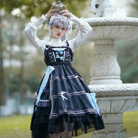 Little Witch ~ Gothic Lolita JSK Dress with Black Lace Top