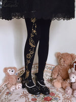 The Aquaria ~ Sweet Printed Lolita Tights Thin Women's Pantyhose by Ruby Rabbit