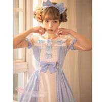 Cherry in May ~ Sweet Checkered Short Sleeve Lolita Dress by Magic Tea Party ~ Pre-order