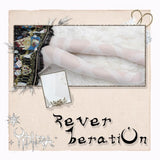 Reverberation ~ Sweet Lolita Long Stockings White Summer Thigh Highs by Yidhra