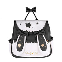 Star & Moon ~ Sweet Lolita Backpack with Rabbit Ears by LovelyLota