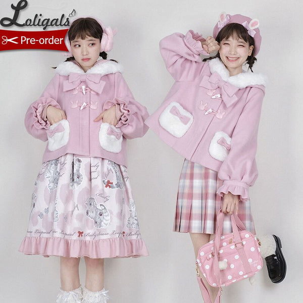 Candy Bunny ~ Sweet Lolita Wool Jacket Warm Winter Coat by Alice Girl ~ Pre-order