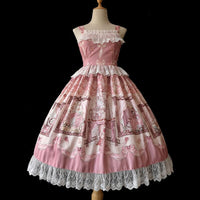 Sleeping Beauty ~ Sweet Printed Lolita JSK Dress Ruffled Party Dress by Infanta