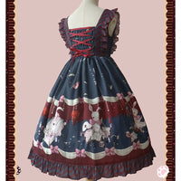 Bunny in Hospital ~ Gothic Printed Lolita JSK Dress by Infanta