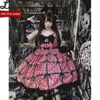 Sweet Leopard Printed Gothic Lolita Dress Casual Chiffon Dress by Diamond Honey ~ Pre-order