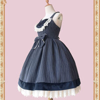 College Star ~ Classic Striped Sleeveless Lolita Dress by Infanta