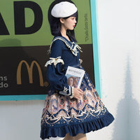 Explore the Stars ~ Elegant Long Sleeve Lolita Dress Royal Party Dress
