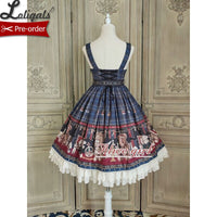 Lovely Teddy ~ Sweet Bear Printed Lolita JSK Dress by Alice Girl ~ Pre-order