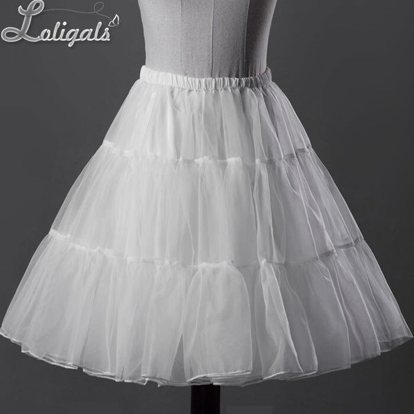 Daily Casual Midi Organza Petticoat Sweet Short Skirt by Classical Puppets