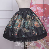 Chipol's Fairytale Land ~ Sweet Printed Short Lolita Skirt by Strawberry Witch