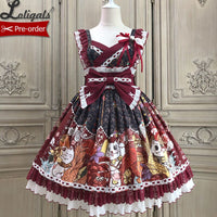 Fortune Cat ~ Japanese Style Lolita JSK Dress by Alice Girl ~ Pre-order
