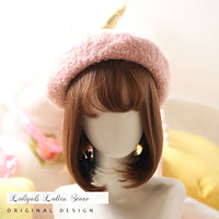 Warm Winter Beret Hat Sweet Thick Cap for Women
