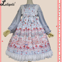 Tea Party in Forest ~ Sweet Printed Lolita JSK Dress by Infanta