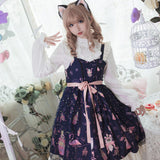Flamingo Printed Casual Lolita Dress Sleeveless Party Dress by Idream