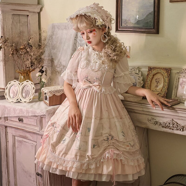 Flowers Museum ~ Sweet Printed Lolita JSK Dress Elegant Party Dress