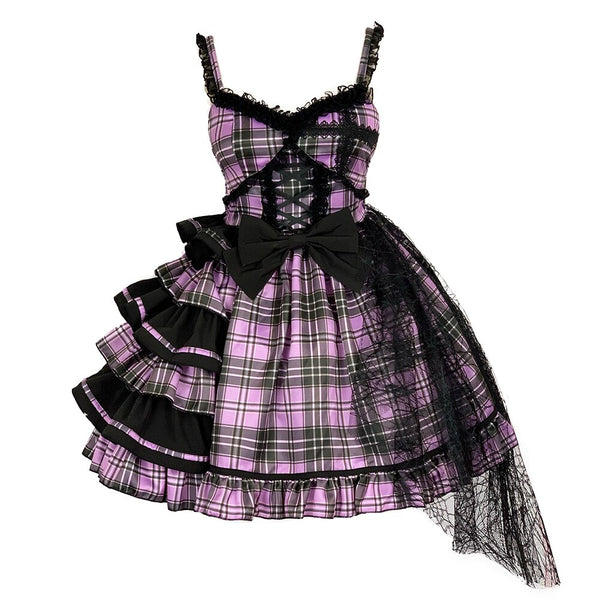 Shining Star ~ Harajuku Plaid Lolita Mini Dress by Diamond Honey