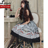 The Gate of Darkness ~ Gothic Printed Lolita JSK Dress by Alice Girl ~ Pre-order