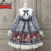 Lovely Teddy ~ Vintage Long Sleeve Lolita Party Dress by Alice Girl ~ Pre-order