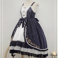 Rose & Moonlight ~ Vintage Lolita JSK Dress Embroidered Retro Party Dress