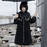 Holy Grail ~ Gothic JK Uniform Women's Long Wool Single Breasted Coat
