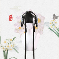 Long Black Straight Wig with Bangs Chinese Retro Style Cosplay Wig