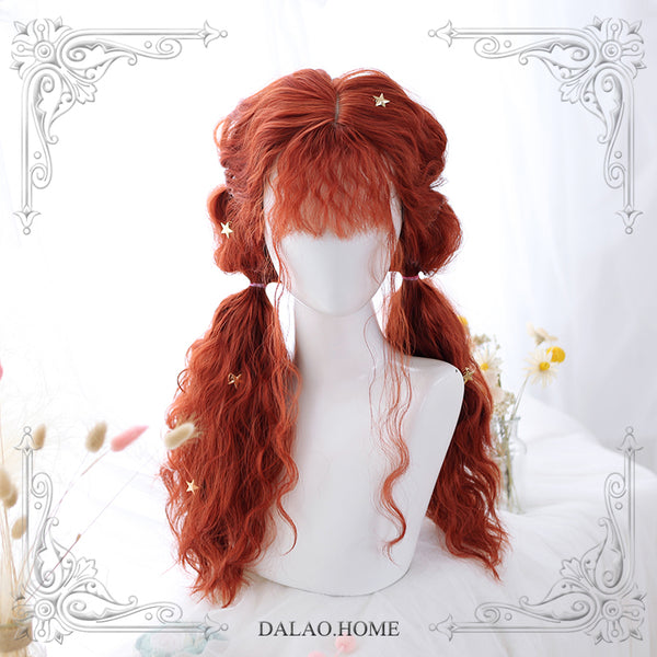 Harajuku Curly Long Lolita Wig Red Cosplay Wig