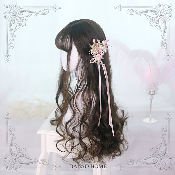 Sylviya ~ Long Wavy Lolita Wig with Bangs