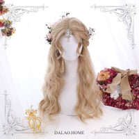 Fairy Long Curly Wig with Side Bangs Pink Lolita Wig