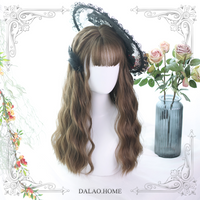 Hollian ~ Harajuku Long Curly Wig Wavy Lolita Wig with Bangs