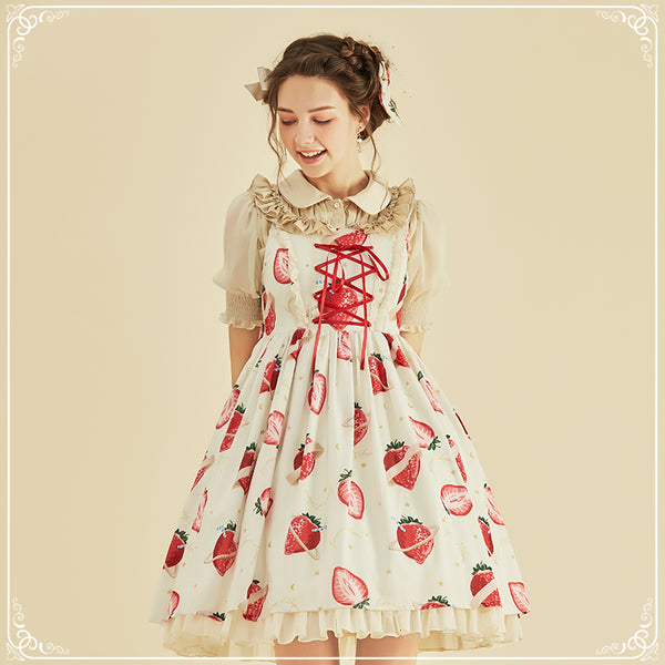 Strawberry Universe ~ Sweet Printed Lolita JSK by Larmes d'Anges
